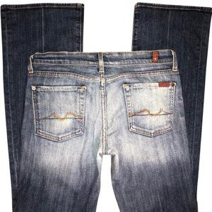 7 For All Mankind Long Bootcut Jeans 27